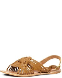 Dorothy Perkins Tan See Leather Sandals