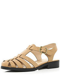 River Island Tan Strappy Gladiator Sandals