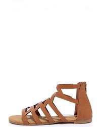 Bamboo Cabana Cutie Tan Gladiator Sandals