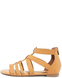 Bamboo Hot Item Tan Gladiator Sandals