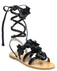 3ad5799de130 ... Tory Burch Blossom Gladiator Leather Sandals ...