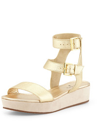 Kate Spade New York Troy Flatform Gladiator Sandal Gold
