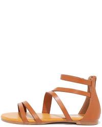 Next Stop Beige Snakeskin Flat Sandals