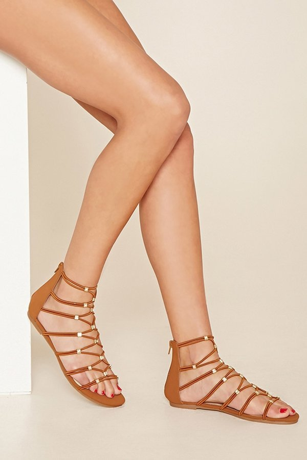 e51ba333309e ... Forever 21 Strappy Gladiator Sandals ...