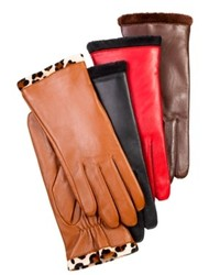 Charter Club Faux Fur Lined Leather Gloves