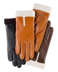 Charter club gloves leather gloves with knit cuff medium 146098