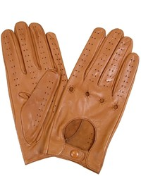 Forzieri Tan Italian Leather Driving Gloves