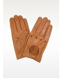 Tan italian leather driving gloves medium 7162