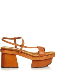 Stella McCartney Altea Faux Leather Block Heel Platform Sandals