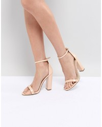 Missguided Block Heeled Barely There Sandal