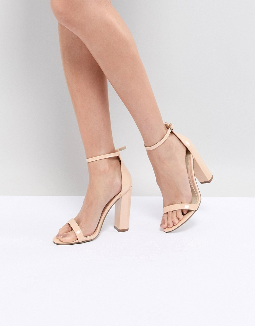 Missguided Block Heeled Barely There