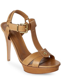 Gianvito Rossi Camel Platform Sandals
