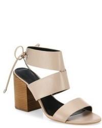 Rebecca Minkoff Christy Leather Block Heel Sandals