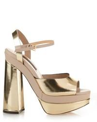 Chrissie Morris Farrah Leather Platform Heeled Sandals