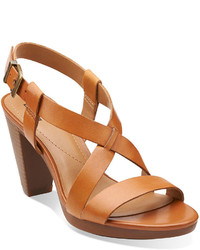 Clarks Jlyn Fog Leather Sandals
