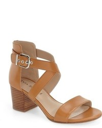 Jobina crisscross strap block heel sandal medium 701536