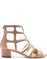 Jimmy Choo Ren 35mm Block Heel Leather Sandals