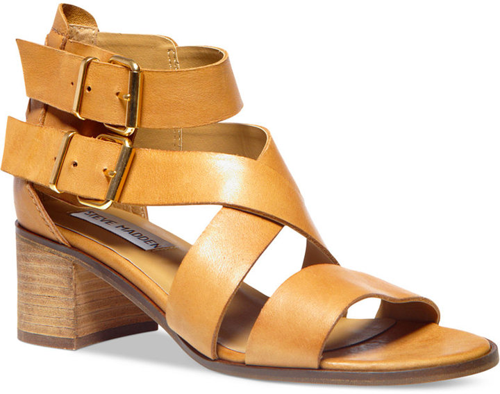 084a72bc5a3 $99, Steve Madden Rosana Block Heel City Sandals