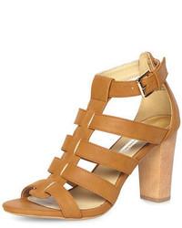 Dorothy Perkins Tan Gladiator Strap Sandals