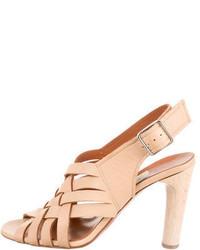 Lanvin Woven Leather Sandals