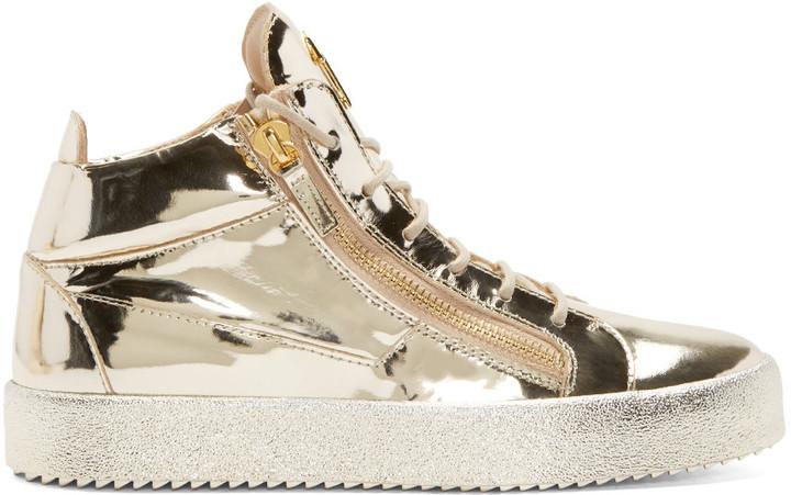 ... Giuseppe Zanotti Gold High Top Sneakers ...