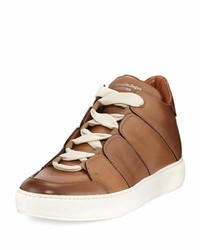 Ermenegildo Zegna Tiziano Runway Leather High Top Sneaker