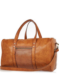 River Island Tan Brown Lattice Holdall Bag