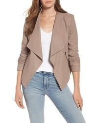 Brycen leather drape front jacket medium 4423372