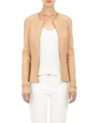 The Row Leather Anasta Jacket Pink