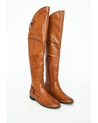 Missguided Priscilla Knee High Riding Boots Tan | Where to buy ...