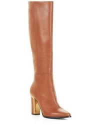 BCBGMAXAZRIA Oak High Heel Leather Knee Boots