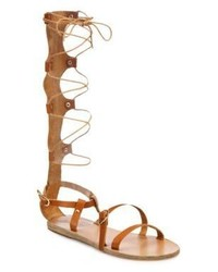 Ancient Greek Sandals Sofia Tall Leather Gladiator Sandals