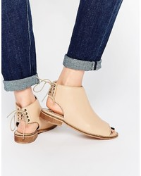 Asos Collection Annabelle Leather Lace Up Ankle Boots