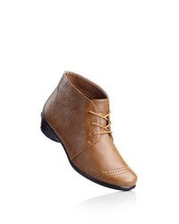 bpc selection Lace Up Ankle Boots In Camel Size 4