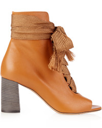Chlo harper lace up leather ankle boots medium 1156492