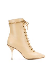 Petar Petrov Lace Up Ankle Boots