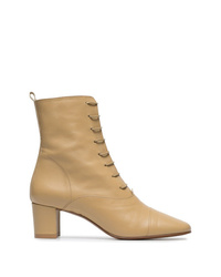By Far Lada 55 Lace Up Leather Ankle Boots