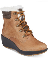 Sperry Luca Peak Cold Weather Lace Up Wedge Ankle Boots