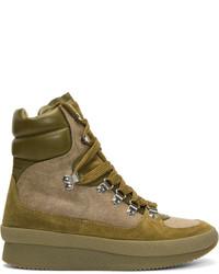 Isabel Marant Beige Brendty Hiking Boots