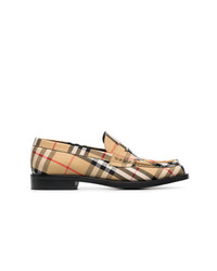 Burberry Check Loafers