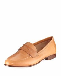 Classic calfskin penny loafer tan medium 4016305