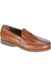 Neil M Kiawah Saddle Tan Leather Penny Loafers