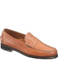 Sebago Classic Tan Full Grain Leather Penny Loafers