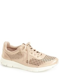 Tan Leather Low Top Sneakers