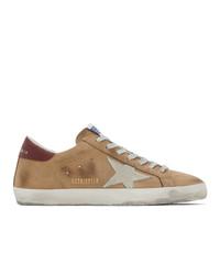 Golden Goose Brown And Grey Nubuck Sneakers