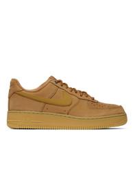 Nike Brown Nubuck Air Force 1 07 Sneakers