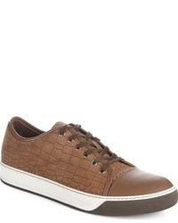Embossed nubuck low top sneaker medium 962706