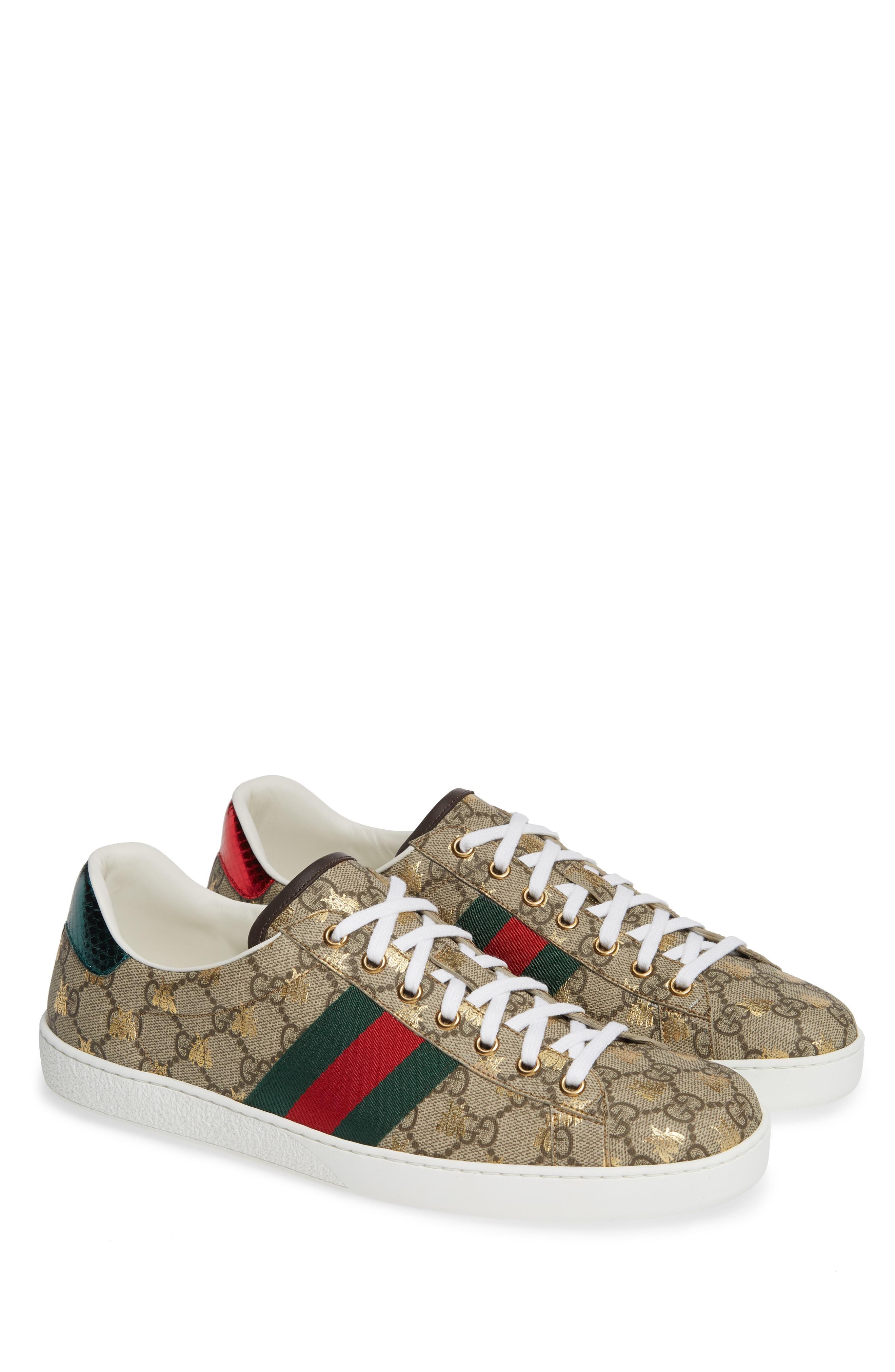 40cfa8014e0 ... Gucci New Ace Gg Supreme Sneaker