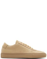 Tan nubuck bball low sneakers medium 5212160