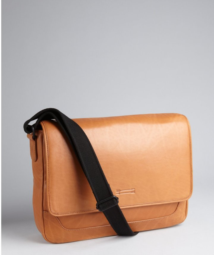 Ben Minkoff Tan Leather Quentin Flap Messenger Bag | Where to buy ...